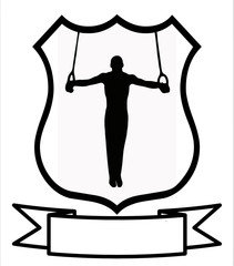 Male Gymnastics Sport Shield