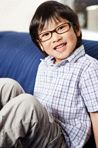Cute asian boy