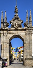 Arco da Porta Nova, Braga, Portugal.