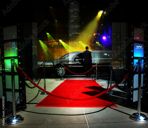 Red carpet event in downtown