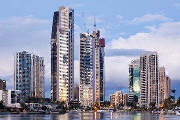 modern city at twilight (gold coast, queensland, australia)