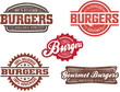 Vintage Style Burger Graphics