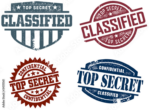 Classified & Top Secret Stamps
