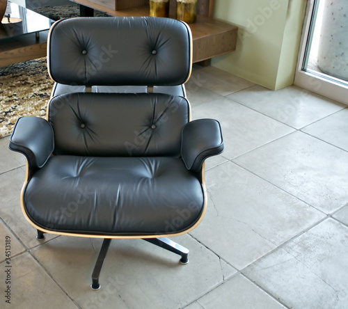Stylish masculine arm chair