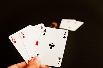 Poker cards money