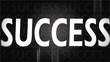 Creative image of black success concept