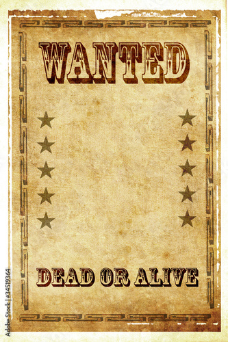 Wanted dead or alive vintage poster