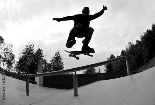 Plakat skateboarding silhouette