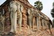 elephant head temple sukhothai thailand