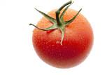 水滴がついたフレッシュトマト