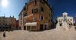 Rovinj square with medival buildings