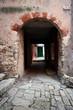 Old medival alley in Rovinj