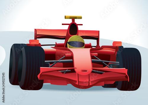 Red F1 Racing Car - 34527345