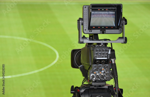 TV camera in the stadium