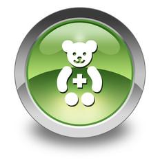 "Green Glossy Pictogram ""Pediatrics"""