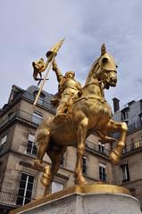 Jeanne d'Arc statue dorée parisienne