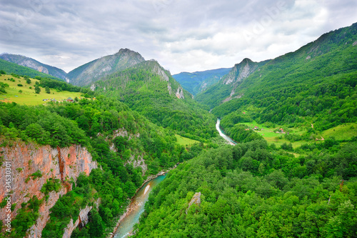 Canyon of the river Tara in Montenegro (the biggest in Europe)