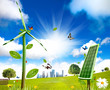 Wind turbine and solar cell grows
