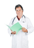 Doctor holding patient file