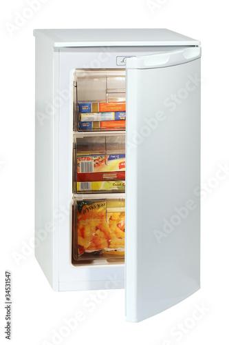 White undercounter freezer