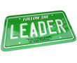 Leader - License Plate Word Leadership Top Manager
