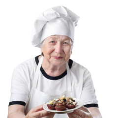 Senior woman cook