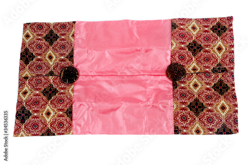 a glove box of tissues patterned batik cloth