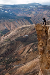 photographer standing on the edge of the cliff, Iceland