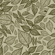 Seamless vector leaves pattern. Thanksgiving
