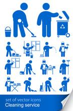 Sprzątanie ikona wektor