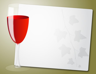 wine glass sheet