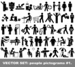 Vector set people pictograms