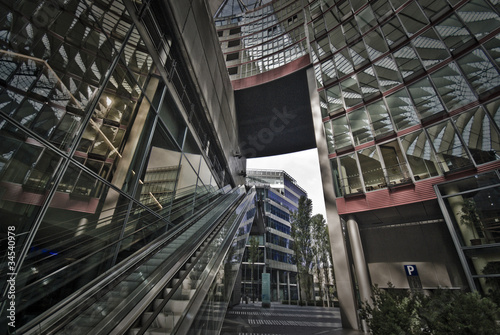 Glass and steel center
