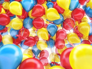 Colorful balloons Palloncini 3d festa party birthday