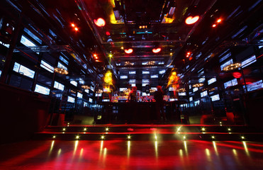 Bar in nightclub