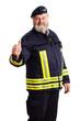 Feuerwehrmann mit Daumen-Hoch-Geste