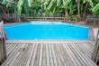 piscine plage bois massif