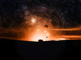 Fototapete Astronomy - Himmel - Sonnenauf- / untergang
