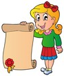 Girl holding diploma
