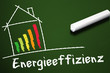 Tafel mit Energieeffizienz