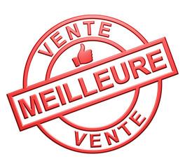 """""""Meilleure Vente"""" Cachet (rouge)"""