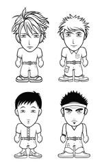 Manga Chibi kids