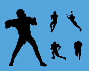 football silhouette collection