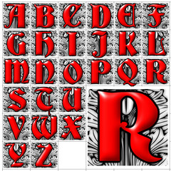 ABC Alphabet background deutsch gothic design