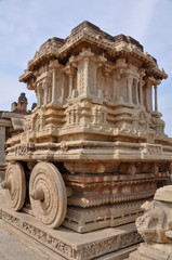 The stone Chariot located in the Vittala Temple