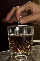 spiking a drink with a drug (Ruffee, Rohypnol)