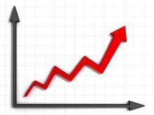 Wykres Strzałka z osi