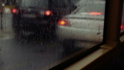Rainy Bus Window