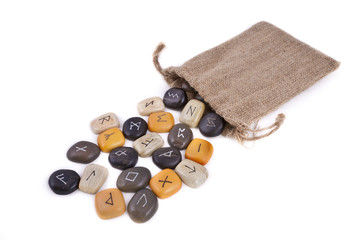 Rune Stones on white background