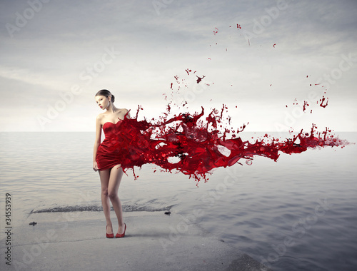 canvas print picture Red beauty